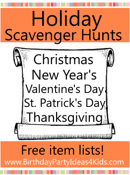 Holiday Theme Scavenger Hunts