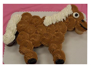 Horse Made From Cupcakes