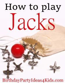 metal jacks with red ball and pouch