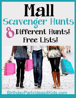 8 Mall Scavenger Hunts