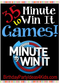 minute to win it games for kids, tween and teen parties ages 6, 7, 8, 9, 10, 11, 12, 13, 14, 15, 16, 17, , 18 years old