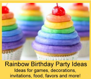 rainbow party theme birthday party ideas for kids