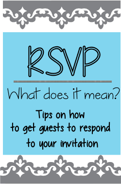 what is meaning of rsvp and help with invitations