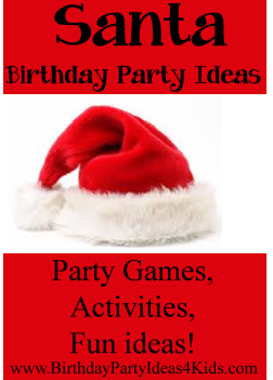 Santa Birthday Party Ideas