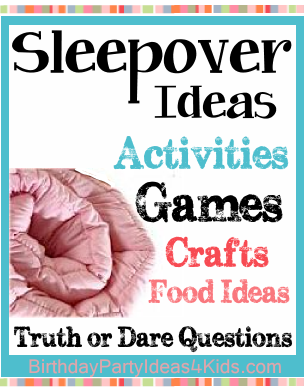 sleepover and slumber party games activities and fun things to do