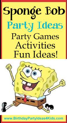 Sponge Bob Birthday Party Ideas For Kids