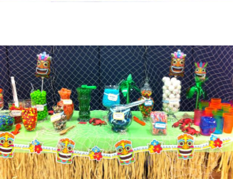 survivor party theme candy buffet