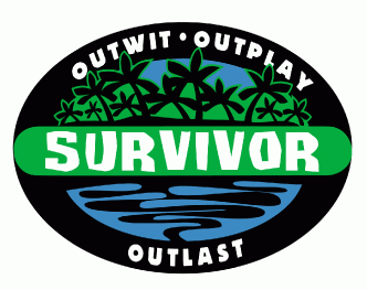 survivor logo for survivor theme birthday party invitations, decorations, goody bags