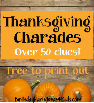 thanksgiving themed charades game