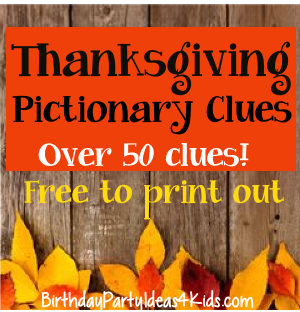 Thanksgiving Fall Pictionary Game Kids Tweens Teens