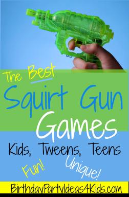 Squirt gun games